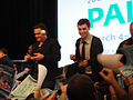 PaleyFest 2011 - Freaks and Geeks-Undeclared Reunion - Jason Segel and John Francis Daley sign for fans (5525056406).jpg