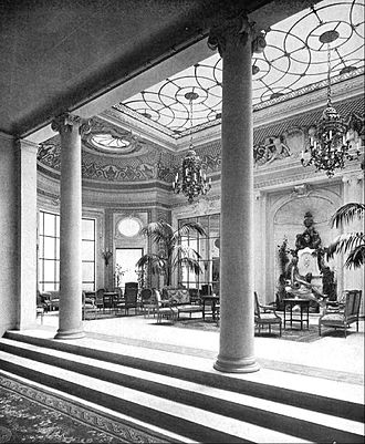 The Ritz Hotel, London - The Palm Court of the Ritz in 1907
