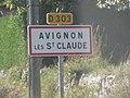 Panneau entrée Avignon St Claude oct 2018 1.jpg