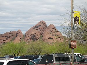 Papago Park - View from the Phoenix Zoo entrance