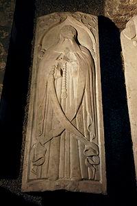 Paris -Musée national du Moyen-âge - Dalle funéraire de Jacques de Milly - vers 1461 - 001.jpg