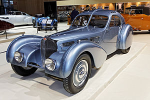 Bugatti EB 118 - Image: Paris Retromobile 2012 Bugatti type 57SC Atlantic 1936 001