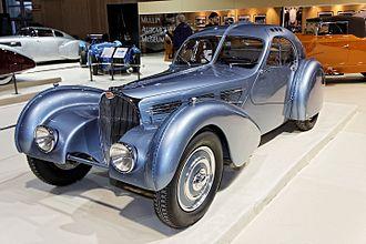 Bugatti EB 118 - The Bugatti 57SC Atlantic from which the design of the EB 118 is inspired