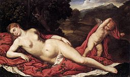 Paris Bordone - Sleeping Venus with Cupid - WGA02462