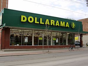 Dollarama - A standalone Dollarama store in Toronto's Parkdale neighbourhood.