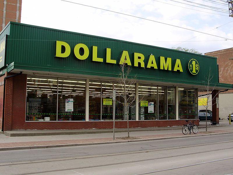 Lojas baratas no Canadá