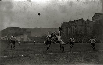 Real Sociedad - Real Sociedad vs Real Unión at campo de Atotxa in 1931.