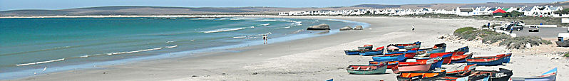 File:Paternoster (South Africa) banner Fishing boats on the beach.JPG