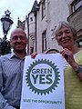 Patrick Harvie and Louise Batchelor Green Yes (14889097225).jpg
