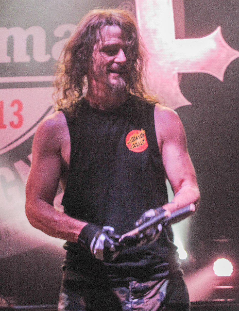 Paul Bostaph with Slayer in 2013 (cropped)