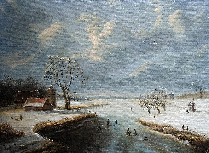 File:Paul Gosselin,winter landscape - Realism.jpg