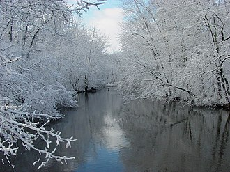 Paw Paw River - The Paw Paw River after a snowfall in Van Buren County, Michigan