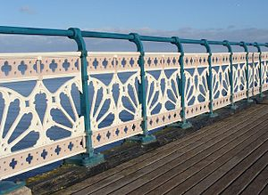 Penarth - Penarth Pier railings detail