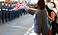 People Waving Flags as RAF Benson Takes Part in Freedom of Wallingford Parade MOD 45154153.jpg
