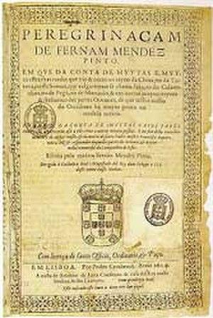 Fernão Mendes Pinto - Peregrinação, Pinto's famous book