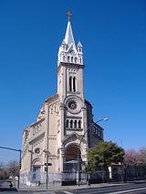 Parroquia del Perpetuo Socorro, a church in the Lisandro de la Torre neighbourhood.