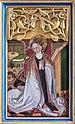 Pesenbach Kirche Hochaltar Predella Verkündigung Maria 01.jpg