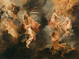 Parcae - The Three Parcae Spinning the Fate of Marie de' Medici (1622-1625) by Peter Paul Rubens