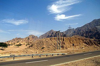 Highway 15 (Jordan) - The highway passing through Ma'an Governorate near Petra
