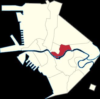 San Miguel, Manila - Map of Manila denoting the location of San Miguel