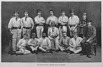 History of United States cricket - The Philadelphian cricket team, shown here on an 1884 tour of England, were the premier American cricket team for several decades after the US Civil War.