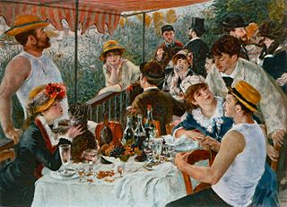 an overview of pierre augustine renoirs luncheon of the boating party In 1880, pierre-auguste renoir, age 41, wrote to a friend that he was in  now  that painting, luncheon of the boating party, is the star of a new.