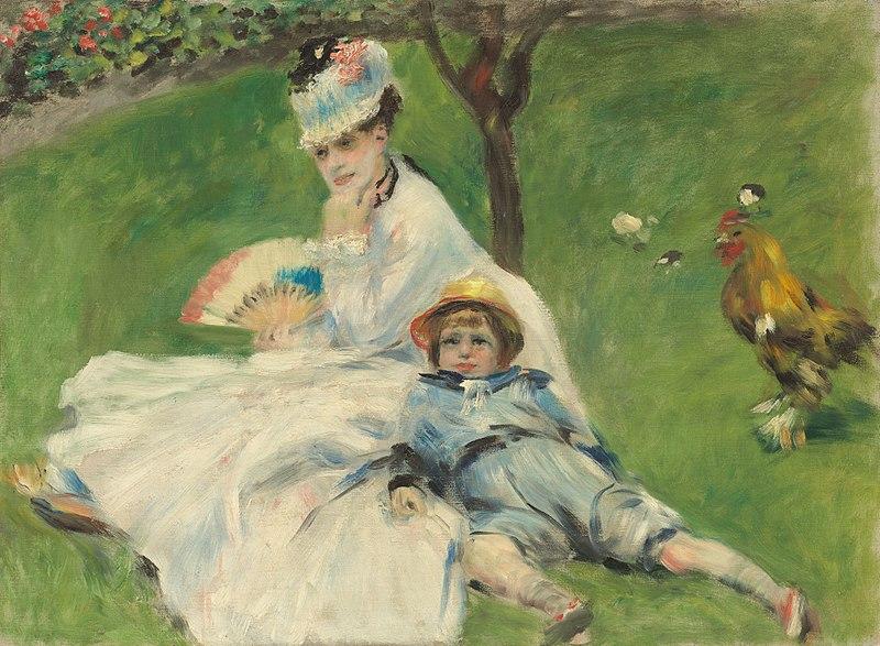 Arquivo: Pierre-Auguste Renoir - Madame Monet e seu Son.jpg