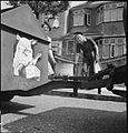 Pig Food- Women's Voluntary Service Collects Salvaged Kitchen Waste, East Barnet, Hertfordshire, England, 1943 D14250.jpg