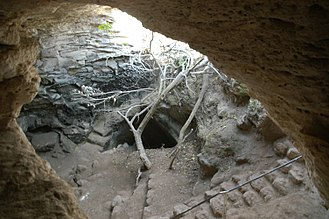 Bar Kokhba revolt - Entrance into an excavated cave used by Bar Kokhba's rebels, Khirbet Midras