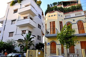 Neve Tzedek - Neve Tzedek has a variety of architectural styles, here: Bauhaus and eclectic