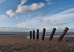 Pileri grwyni - Groyne pillars - geograph.org.uk - 1412316.jpg