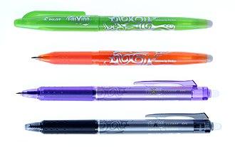 Pilot (pen company) - Image: Pilot Frixion Pens