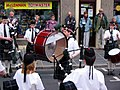 Pipe band in Albert St, Kirkwall - geograph.org.uk - 283982.jpg