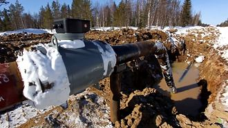 Environmental inequality in Europe - Pipeline leak, Izhma District, Komi Republic, on traditional Izvata territories