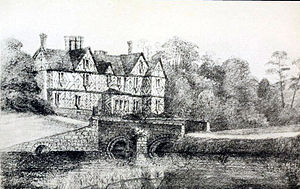 Francis Ottley - Pitchford Hall, Shropshire, home of the Royalist Ottley family in the 17th century. Pictured in 1901