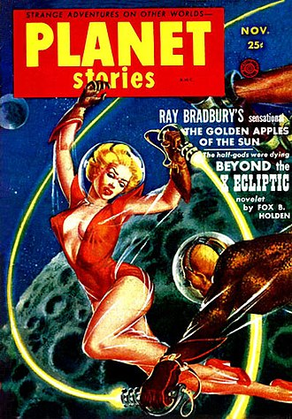 The Golden Apples of the Sun - The collection's title story was first published in the November 1953 issue of Planet Stories, a US pulp sci-fi magazine.