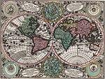 Planisphaerium coeleste. A.C. Seutter delin. Andr. Silbereisen Sculps (world map 1744).jpg