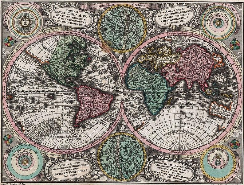 File:Planisphaerium coeleste. A.C. Seutter delin. Andr. Silbereisen Sculps (world map 1744).jpg