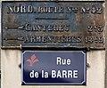 Plaque de cocher, rue de la Barre (Lille).jpg