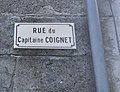 Plaque de la rue du Capitaine Coignet à Druyes-les-Belles-Fontaines.jpg