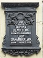 Plaque re Topham and Lady Diana Beauclerk on 100 and 101 Great Russell Street, WC1 - geograph.org.uk - 1289861.jpg