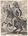 Plate 4- Emperor Gaius on Horseback, from 'The First Twelve Roman Caesars', after Tempesta MET DP857118.jpg