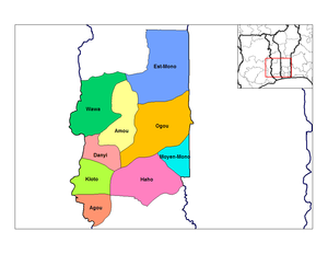 Prefectures of Togo - Prefectures of Plateaux.