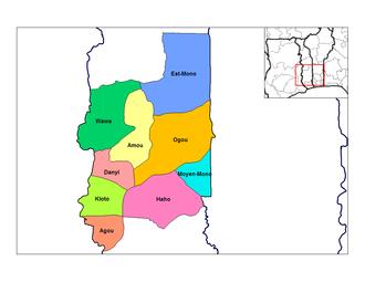 Kloto Prefecture - Prefectures of Plateaux