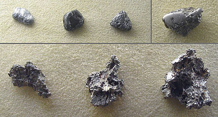 An assortment of native platinum nuggets Platinum nuggets.jpg