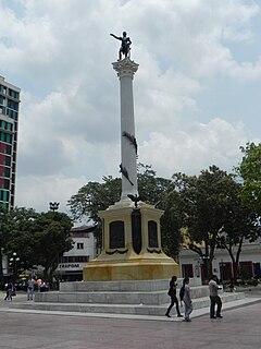 Plaza Bolívar (Valencia) Public square with monument