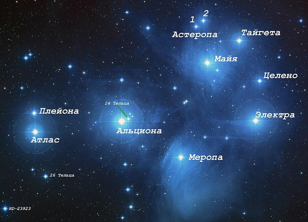 Межзвездная пыль в Плеядах