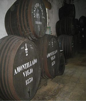 The Cask of Amontillado - Casks of amontillado in a commercial cellar