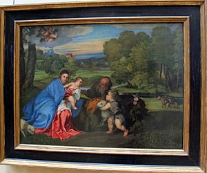 The Rest of the Holy Family with the Infant St. John