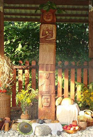 Native Polish Church - Harvest festival (Plony) at Chram (temple) Mazowiecki, RKP (2009)